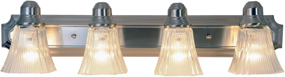 Monument 617036 Decorative Vanity Fixture, Brushed Nickel, 30 In.