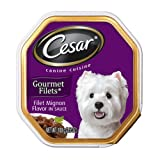Cesar Canine Cuisine Gourmet Filets in Sauce Filet Mignon Flavor for Small Dogs, 3.5-Ounce Trays (Pack of 24), My Pet Supplies
