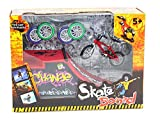 TOPJIN Kids Mini Finger Skateboard Toy with Ramp Parts Tools Finger Bikes Playsets