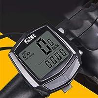 Centeraly Velocímetro para Bicicleta, Impermeable, con Sensor de Cable, Color Negro