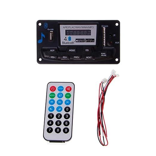 Anjuley 4.0 Bluetooth MP3 módulo de Tarjeta de decodificador 12 V ...