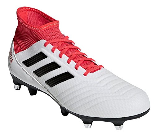 adidas Predator 18.3 SG Football Boots - Adult - White/Black/Real Coral - UK Shoe Size 8
