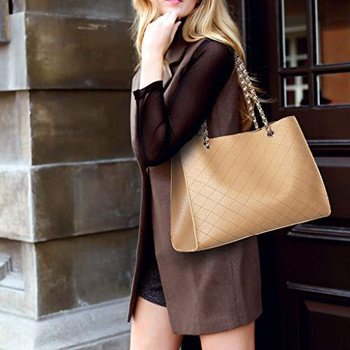 Lingge de à sac simple diagonale Sac fil sac PU femmes Black à main sac broderie épaule grand à main zwwE1qf