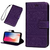 iPhone Xs Max Case 6.5'' Wallet Case, GEMYON New 2018 iPhone Xs Max Phone Case with Hand Strap Card Holder Fashion Design with Stand Feature, [TPU Shockproof Interior Protective Case] Folio Flip Cover