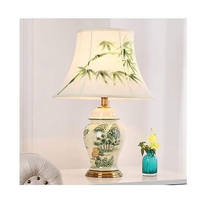 Amazon.com: PPWAN Table Lamp Bedroom Bedside Lamp Creative ...