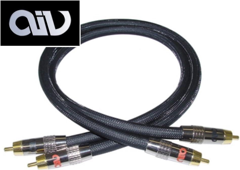AIV Black Moon Cinchkabel 3,0m Stereo High End RCA Kabel