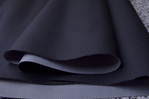 Wento wearproof Black Sofa Leather Fabric,furniture Leather,car Seat Leather Fabric,Upholster Pleather for Furniture Cover,table Cover,handrail Cover,wide 54'' Sold By Half Yard (Black)