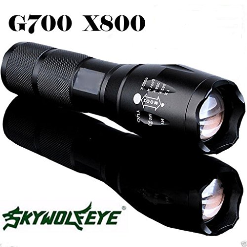 Flashlight Focus Torch Lamp Light G700 X800 5000 Lumen Zoomable XML T6 LED 18650, - Test Eye Vancouver