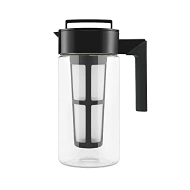 Takeya 10310 Patented Deluxe Cold Brew Iced Coffee Maker with Airtight Lid & Silicone Handle, 1 Quart, Black-Made in USA BPA-Free Dishwasher-Safe