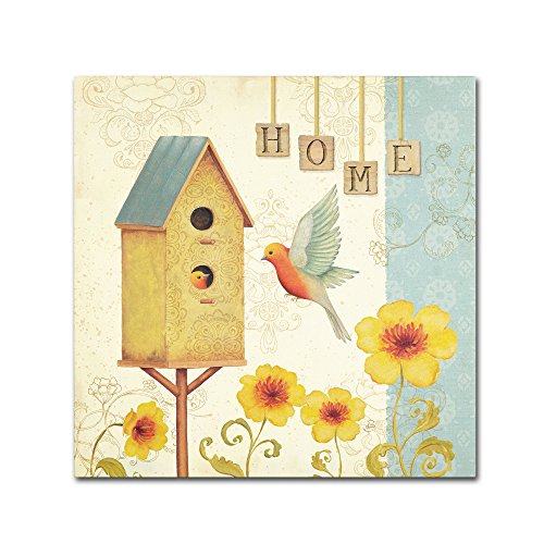 Welcome Home I Artwork by Daphne Brissonnet, 35 by 35-Inch Canvas Wall Art