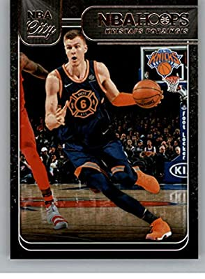 929a34c1582 2018-19 NBA Hoops NBA City  20 Kristaps Porzingis New York Knicks Official  Trading Card made by Panini