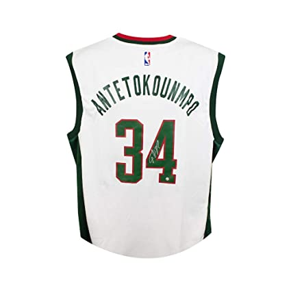 competitive price 49d5d de476 Giannis Antetokounmpo Autographed Milwaukee Bucks Authentic ...