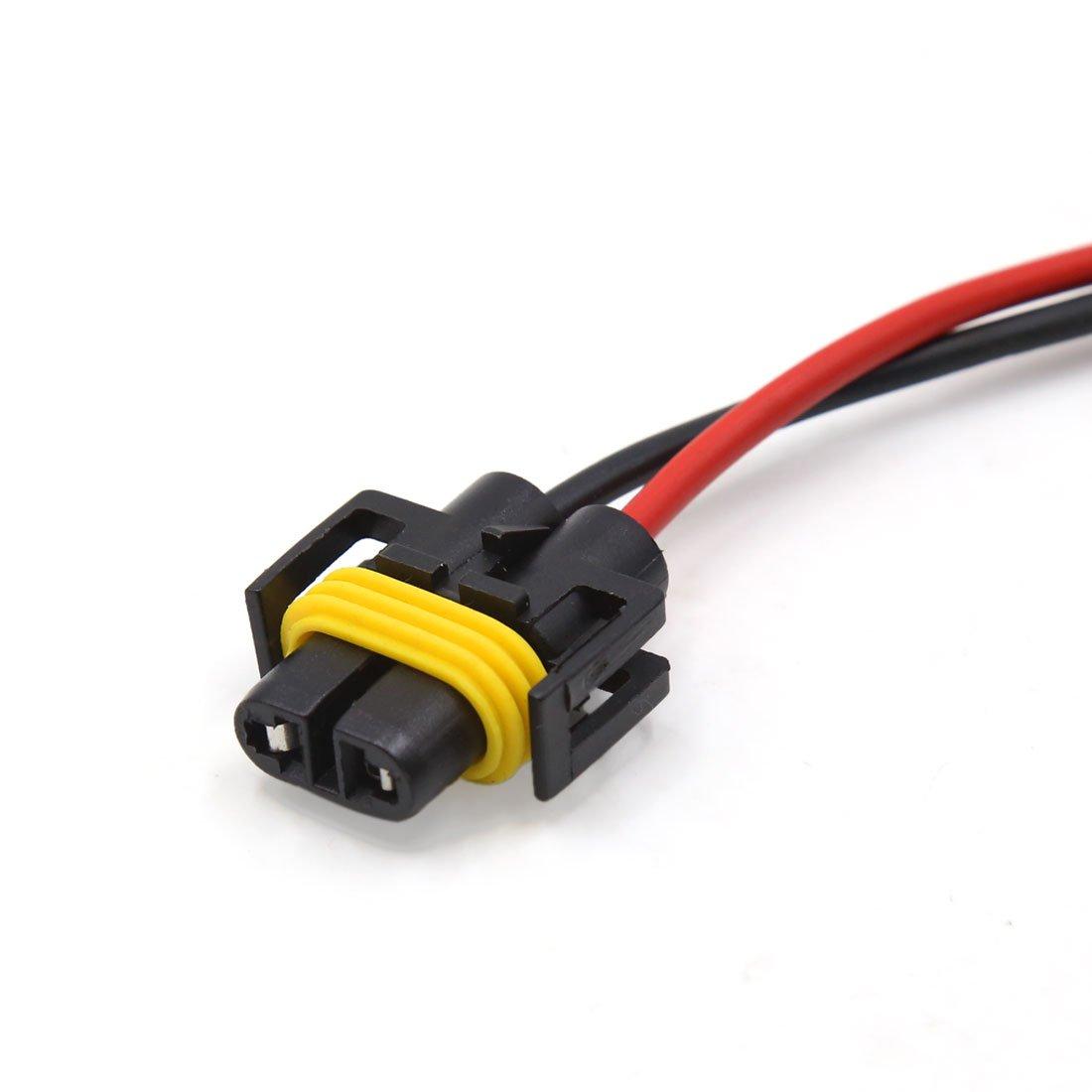 sourcingmap/® 6pz auto in plastica H11 Luce della lampadina prolunga sistema cavi connettore femmina