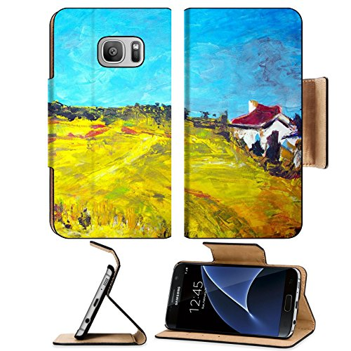 Dreams Giclee Print (Liili Premium Samsung Galaxy S7 Flip Pu Leather Wallet Case original oil painting on canvas for giclee background or concept featuring house Photo 6695113 Simple Snap Car)