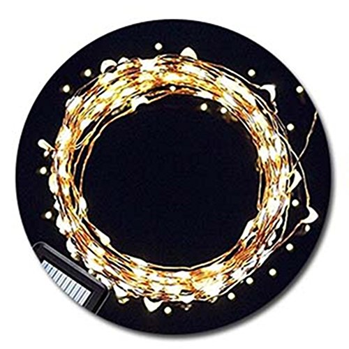 Cooper Wire Wrap (Solar String Lights,XFT-CK 33ft/10m 100 LEDs String Lights, Copper Wire Light Waterproof Solar Fairy String Lights for Outdoor Landscape Patio Garden Camping Christmas Party Wedding (Warm White))