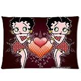 Custom Betty Boop Pillowcase Rectangle Pillow Cases Standard Size Design Cotton Pillow Case 20x30 (one side) Children/kids Favorite P-172