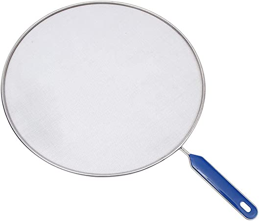 Splatter Screen Guard Frying Fry Pan Cover with Handle