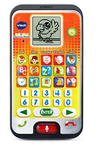 Vtech Cell Phone - VTech Call & Chat Learning Phone, Orange