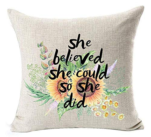 DAIYU Pillow Covers Only Super Soft European Pastoral Watercolor Dahlia Flowers Warm Funny Inspirational Sayings I'm Not Weird I Am Limited Edition Cotton Throw Pillow Case Cushion Cover Home ()