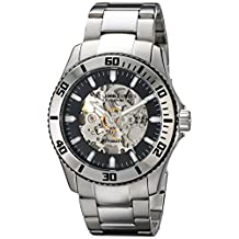 Stuhrling Original Men's 773.01 Aquadiver Regatta Antilles Skeleton Black Dial Automatic Watch