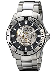 Stuhrling Original Men's 773.01 Aquadiver Regatta Antilles Skeleton Black Dial Automatic Watch