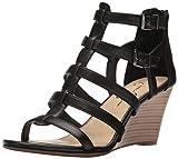 Jessica Simpson Women's Shalon Wedge Sandal, Black, 9 Medium US