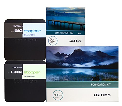 Lee Filters 82mm Premium Long Exposure Kit - Lee Foundation Kit, 82mm Wide Angle Ring, 4x4 Big Stopper and 4x4 Little Stopper with 2filter cleaning kit (Lee Filters Kit 82mm)