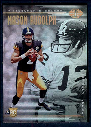 cd129a443 2018 Panini Illusions Football  28 Mason Rudolph Terry Bradshaw Pittsburgh  Steelers Rookie RC Official NFL Trading Card