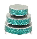 Deco 79 23981 Metal & Mosaic Cake Stand Set of 3
