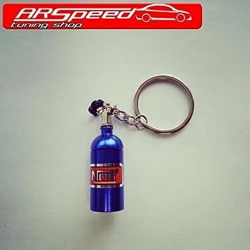 Nos Nitro Gas sonriente Botella Llavero: Amazon.es: Coche y moto