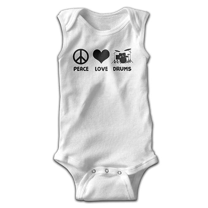 95c59df34 Amazon.com  Peace Love Drums Infant Baby Boys Girls Crawling Suit ...