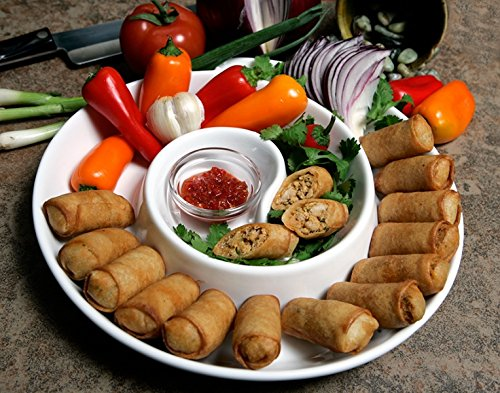 Order Wholesale Buffalo Chicken Spring Rolls for Party - Gourmet Frozen Chicken Appetizers (Set of 4 Trays) ()