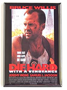 Die Hard With a Vengeance Movie Poster Fridge Magnet (2.5 x 3.5 inches)