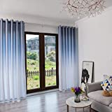 Yucode Solid Gradient Insulating Room Darkening Blackout Curtains for Bedroom Window Treatment Grommet Window Curtain