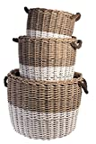 Cheap Vagabond Vintage Set of Three Round Grey Willow Baskets, 3 Piece