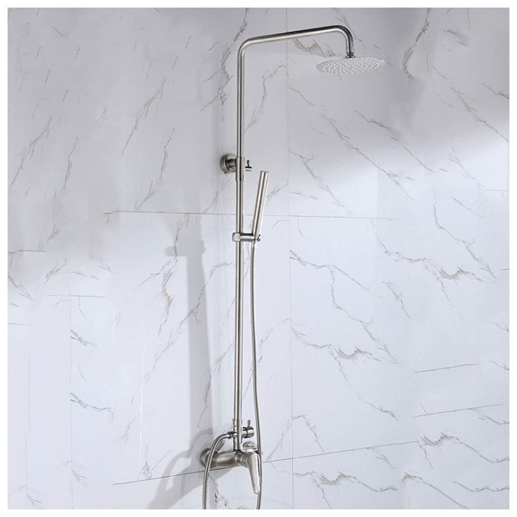 Shower Mixer Set Stainless Steel Bathroom Luxury Wall Mounted Rainfall Shower Head Combo Set CHENGYI