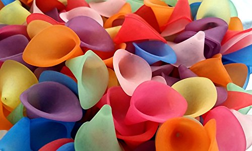 25pc Acrylic Plastic Calla Lily Flower Beads- Large Chunky Assortment Pack-  24mm 1 Inch - Multi Color Lucite Bead