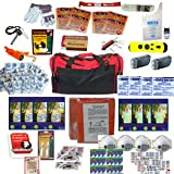 4 Person Perfect Survival Kit Deluxe - Prepare For Earthquake, Evacuation, Emergency Disaster Preparedness 72 Hour Kits for Home, Work, or Auto