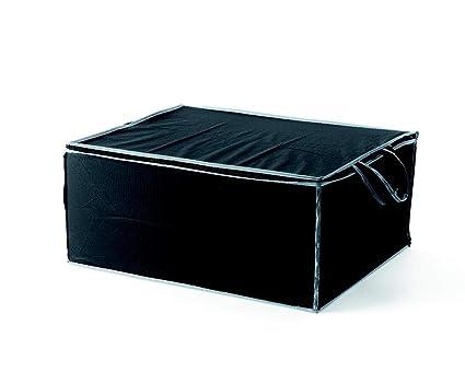 Compactor Set de 3 Bolsas para Edredón de PEVA con Ribetes Grises | 55x45xA.25 cm, Negro, 55 x 45 x 25 cm