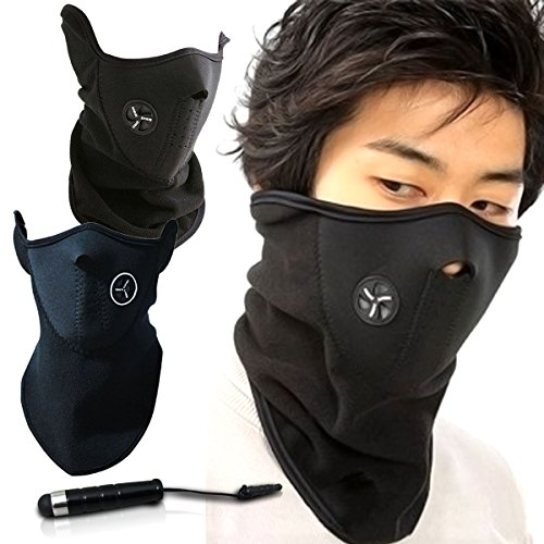 Unisex Ski Mask Neck Warmer, Neoprene Face Mask Winter Cold Weather Face Mask for Motorcycles, Bicycle, Skiing, Running Face Mask,Mountain Climbing - Balaclava Face Masks, jet ski mask - Neoprene Motorcycle Face Mask