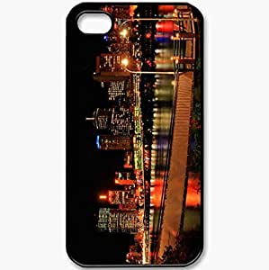 Protective Case Back Cover For iPhone 4 4S Case Form Picture Nice Wallpaper Black