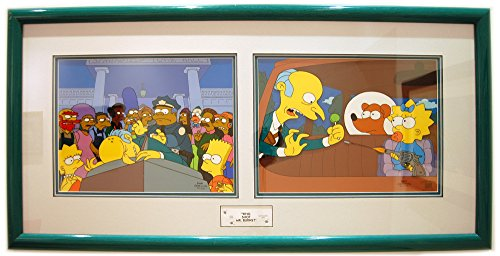 Original Mr. Burns and Cast from the Simpsons cartoon - one of a kind Animation Art Limited Edition Cels