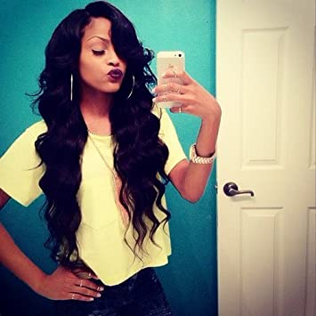 Amazon Sina Peruvian Hair Weft 4 Bundles 24 With 16 Inches