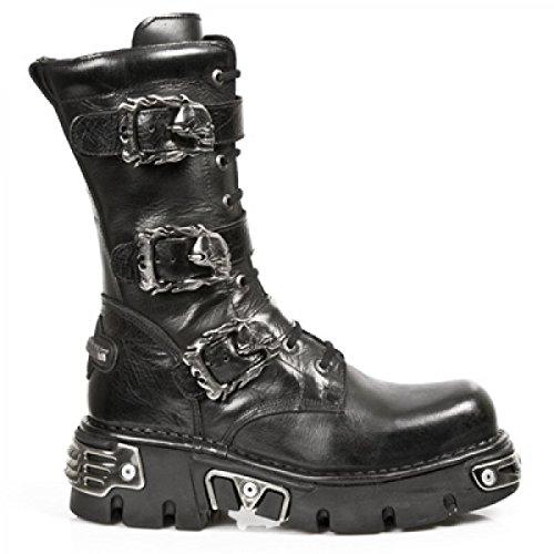 New Rock Boots M.710-c10 Gotico Hardrock Punk Unisex Stiefel Schwarz