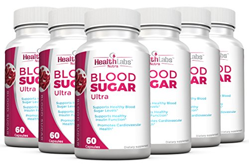 Health Labs Nutra Blood Sugar Ultra – Supports Healthy Blood Sugar Levels, Cardiovascular Health, Strengthens Immune System – Pack of 6