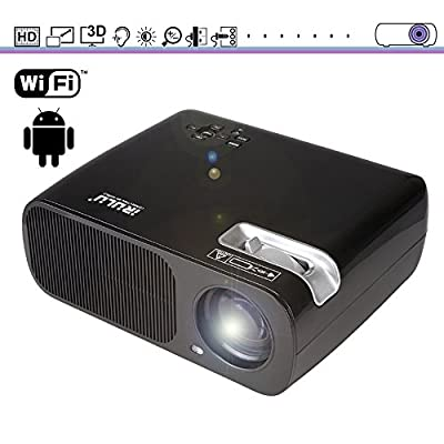 Projector, iRULU BL20 Video Projector, 2600 Lumen LED Projector, HDMI VGA AV USB For Mac PC Laptop Smartphone Back Yard Movie/Home Entertainment/Child Game + 1 Year Warranty - Black