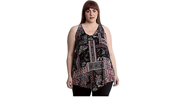 New Womens Plus Size Top Ladies Neon Leopard Print Swing Tunic Sleeveless A-Line