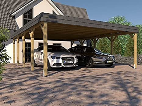 CarPort doble para garaje Sauerland II, 600 x 800 cm: Amazon ...