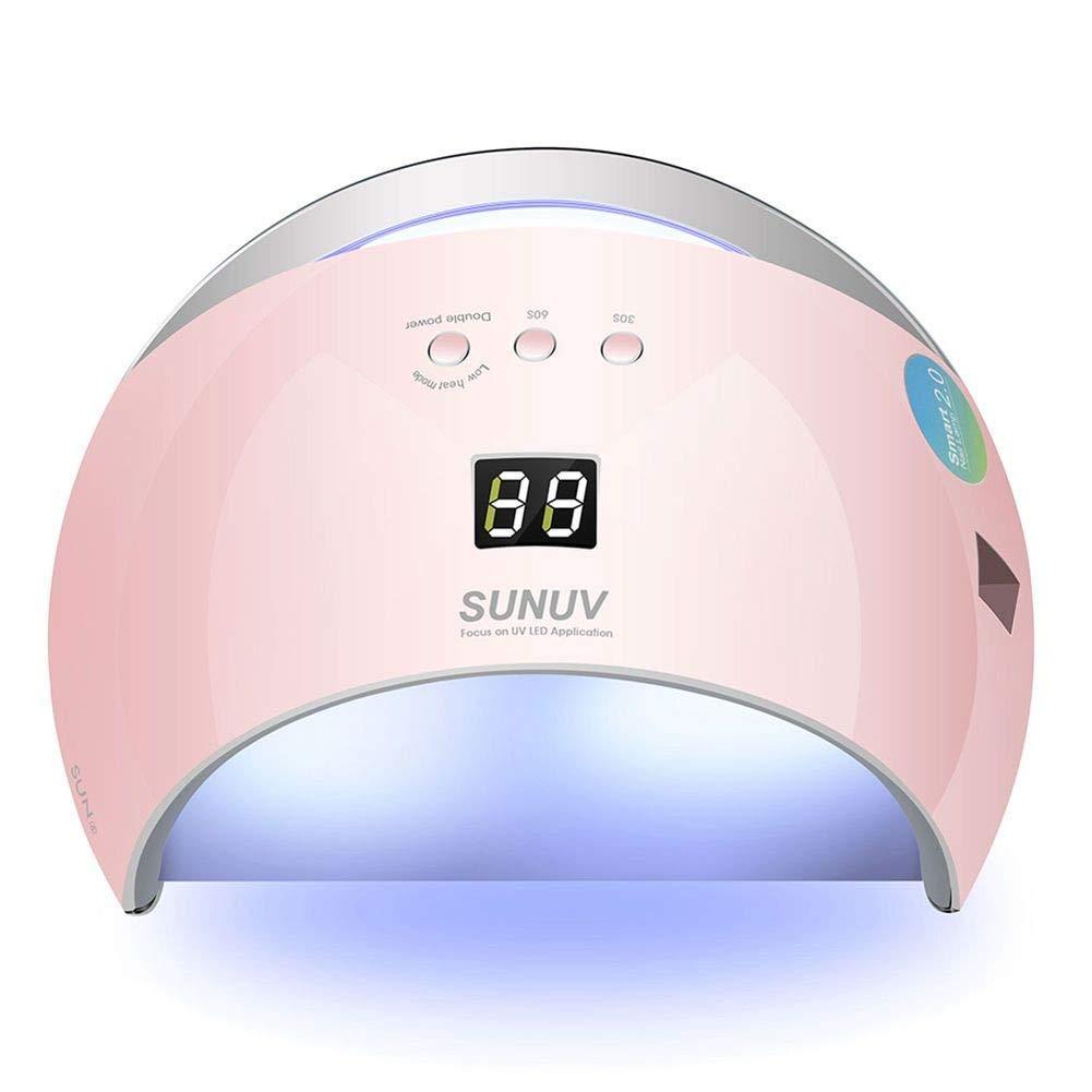 ネイルドライヤーSUN6 48WネイルドライヤーオートセンサーポータブルUVランプ乾燥用低発熱モデルダブルパワーファストマニキュアネイルランプ、画像としての色 B07TPMJYSH The Color as Picture