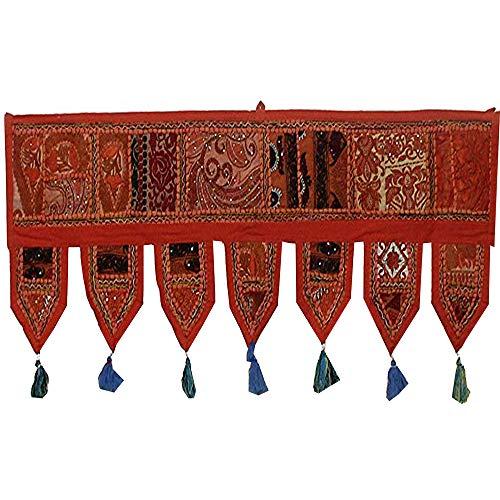Real Online Seller Ethnic Window Valance Home Decor Vintage Embroidered Patchwork Door Hanging Toran